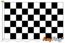 - BLACK AND WHITE CHECK ANYFLAG RANGE - VARIOUS SIZES